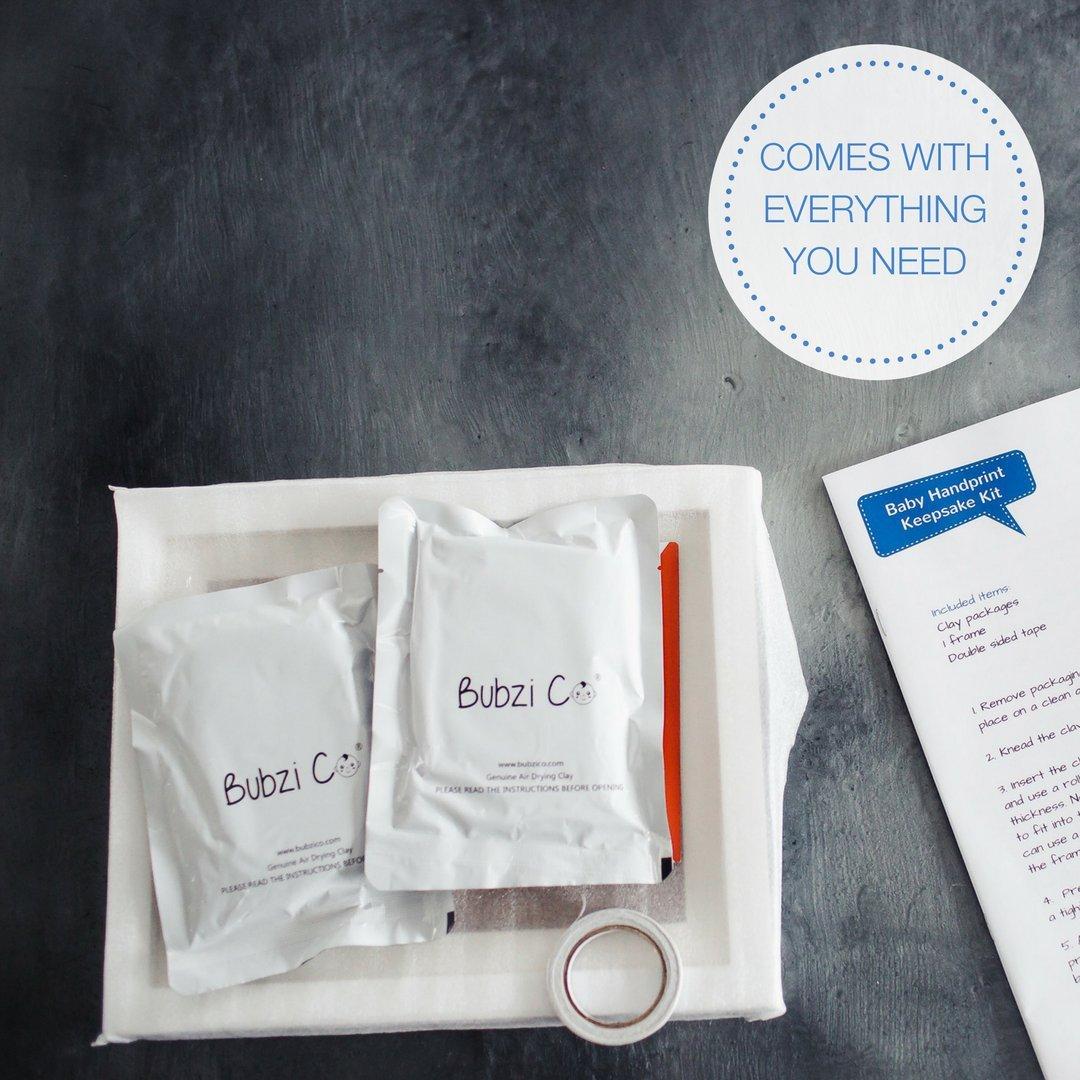 Amazon.com : Bubzi Co Baby Handprint Kit & Footprint Photo Frame for ...