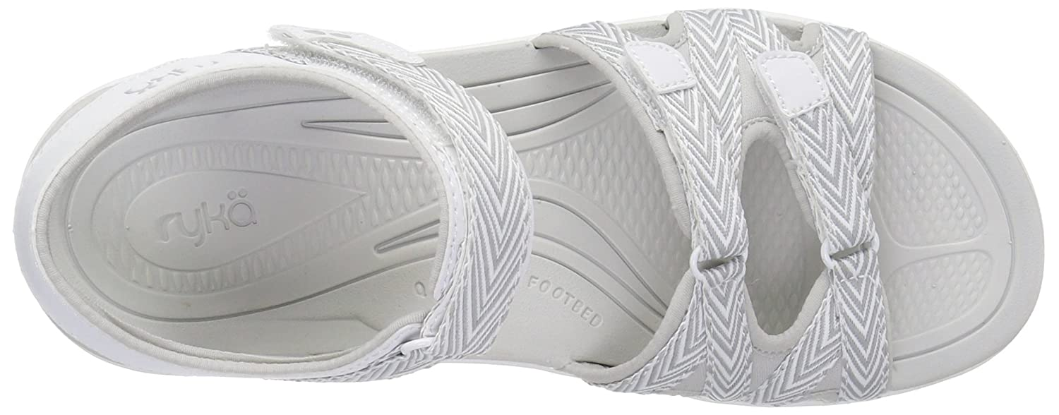 Ryka Women's Savannah Sandal B01KWH5MMG 6 B(M) US|White/Grey