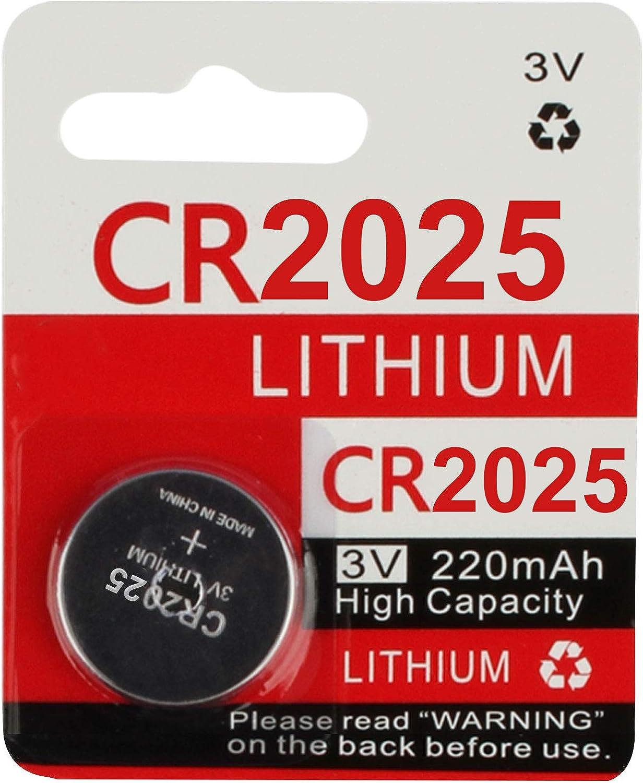 1 Count KeylessOption 2025 Battery 3v Lithium for Keyless Entry Remote Smart Key Fob Alarm Head Flip Keys CR2025