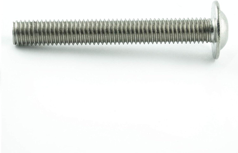 Eisenwaren2000 rostfrei Gewindeschrauben M4 x 22 mm Linsenkopfschrauben mit Innensechsrund TX und Flansch - ISO 7380 Linsenkopf Schrauben mit Flachkopf und Bund Edelstahl A2 V2A 10 St/ück