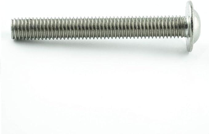 - ISO 7380 Linsenkopf Schrauben mit Flachkopf 100 St/ück Gewindeschrauben M6 x 50 mm Linsenkopfschrauben mit Innensechskant rostfrei Eisenwaren2000 Edelstahl A2 V2A