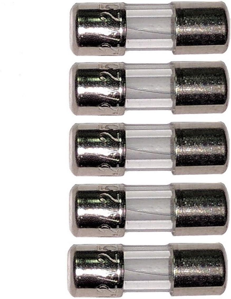 "Techman – Pack of 5 – 5 Aガラスヒューズ、250 V、3.6 MM x 10 mm ( 0.14 "" X 0.39「)高速ブロー(クイックActing )"