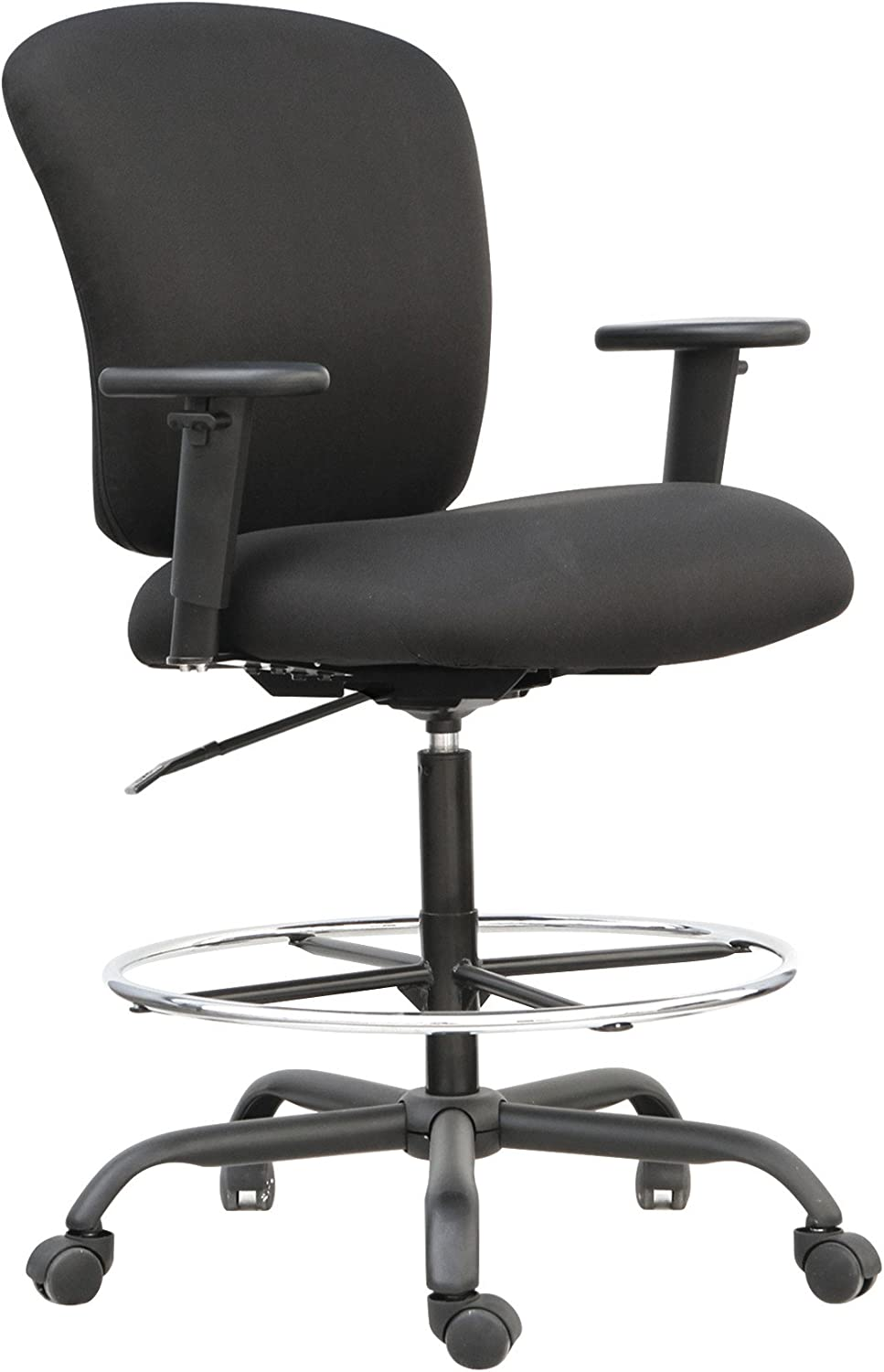 Fine Mod Imports Comfy Mid Back Office Chair, Red