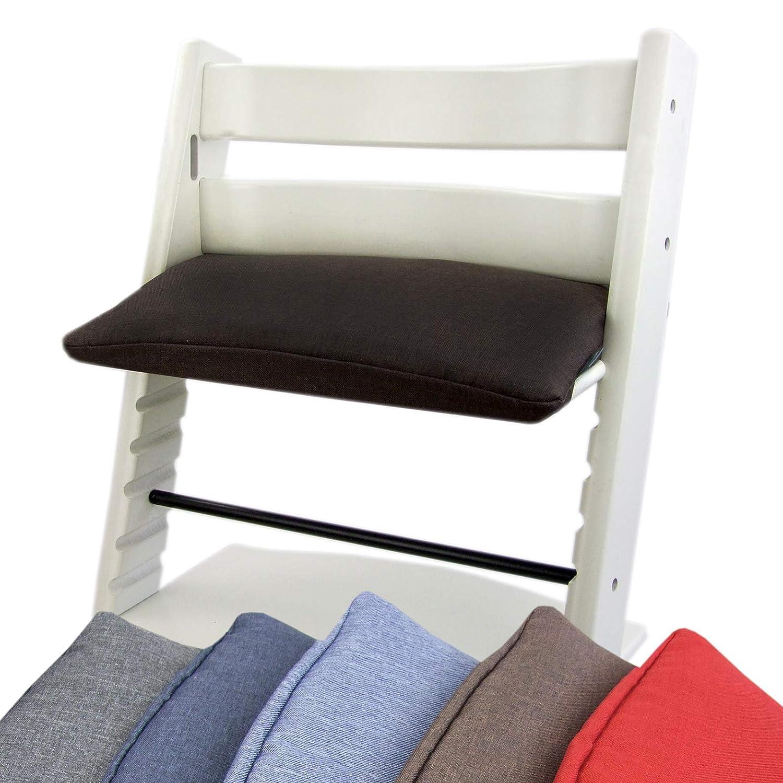 BAMBINIWELT Bezug für Stokke TrippTrapp Sitzkissen Schonbezug Bezug meliert