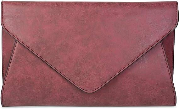 styleBREAKER Envelope Clutch Farbe:Creme-Beige Damen 02012047 Abendtasche im Kuvert Design mit Schulterriehmen und Trageschlaufe