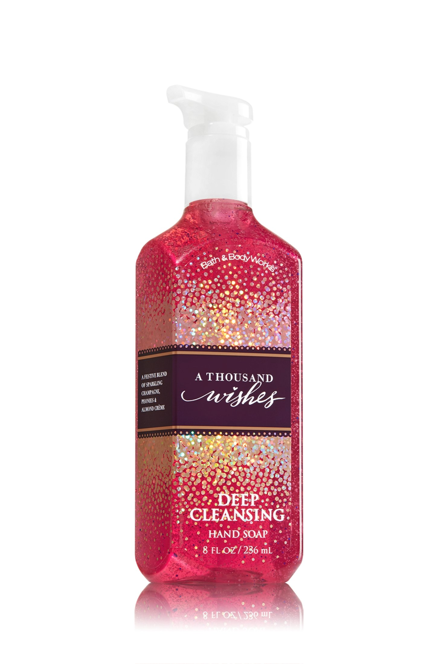 c4ff4932bc268 Amazon.com  Bath   Body Works A Thousand Wishes Deep Cleansing Hand Soap 8  oz  Health   Personal Care