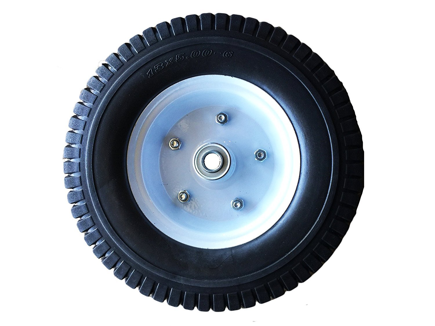 """Heavy Load Flat Free Extra Wide Wagon Dolly Cart Tire (11-3/4"""" Diameter and 4"""" Width)"""