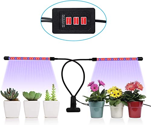 3 Timers 18W Plant Grow Light, TGGOUS 5 Dimmable Brightness Levels Grow Bulbs for Indoor Plants, Vegetables, Tomatoes, Lettuce
