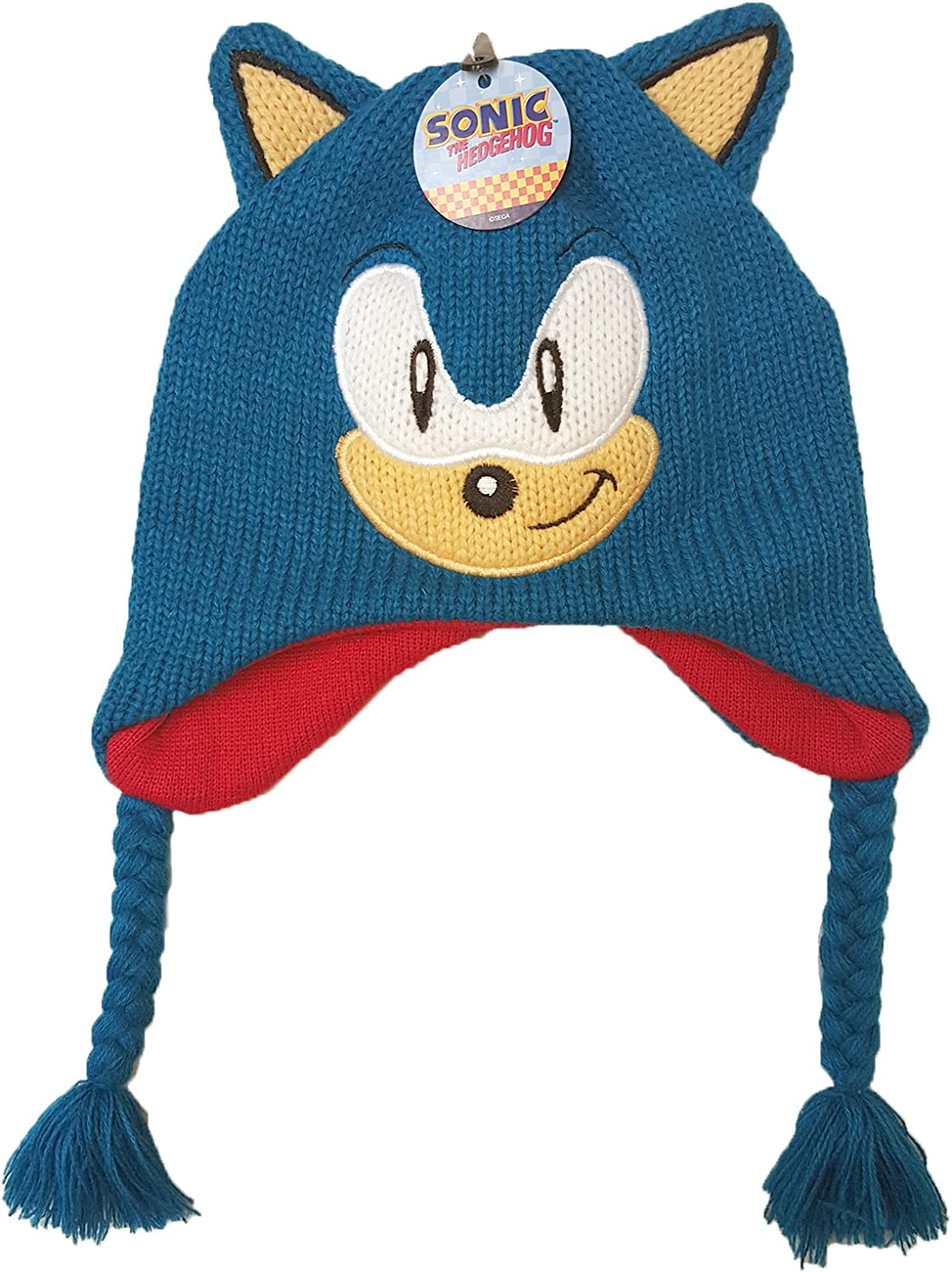 Official Licensed Boy S Sonic The Hedgehog 3d Peruvian Winter Hat Age 8 12 Blue Amazon Co Uk Clothing
