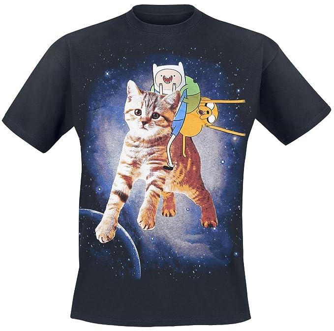 Hora de Aventuras Cat Camiseta Negro M
