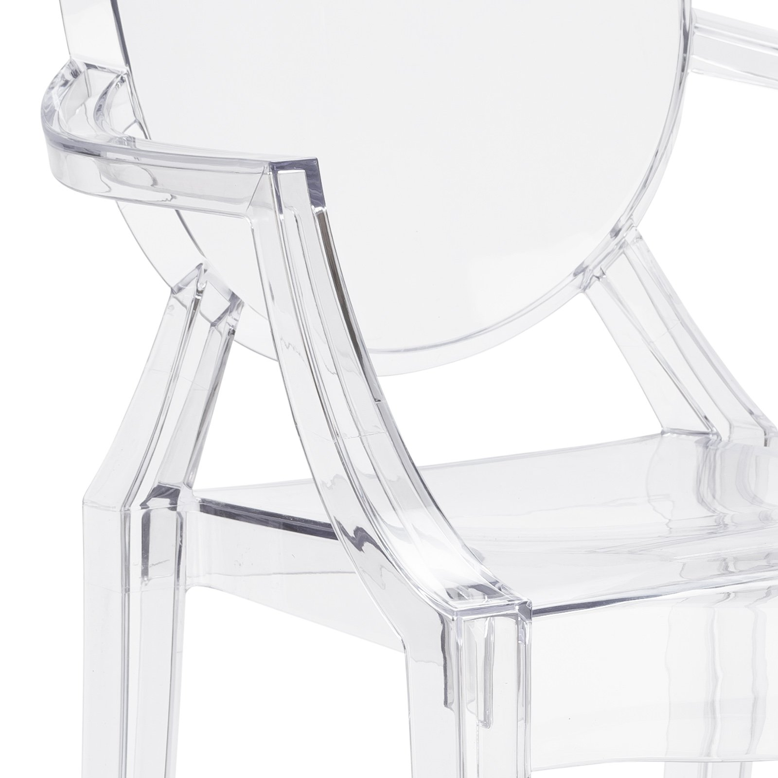 Poly and Bark Burton Arm Chair in Clear (Set of 4) by POLY & BARK (Image #8)