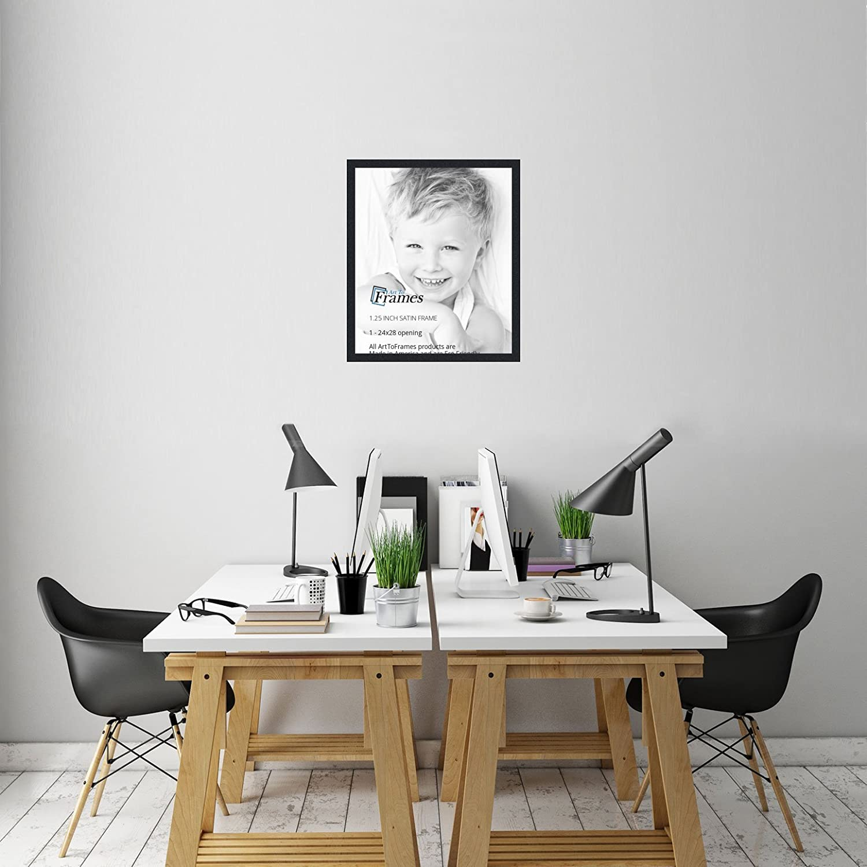 Amazon.com - ArtToFrames 24x28 inch Satin Black Picture Frame ...