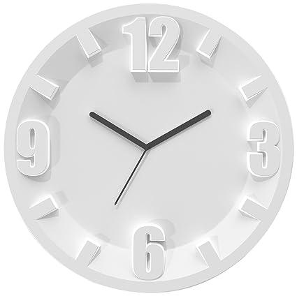 Guzzini Home Orologio da Parete, Modello 3-6-9-12, SAN/Meccanismo ...