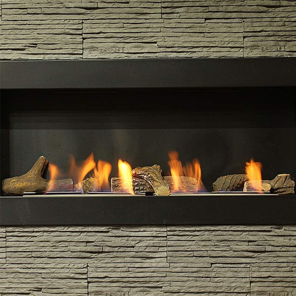 10 pièces en bois-Comme en céramique logs cheminée gaz éthanol fabriqué à la main pommes de pin