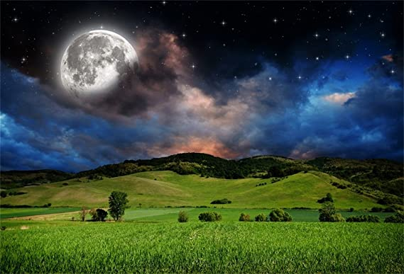 CSFOTO 7 x 5 pies fondo para campo bajo la luna fotografía