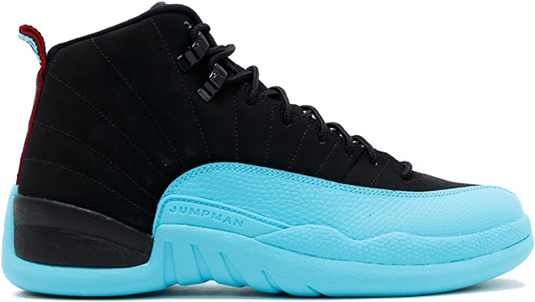 b02e125af1c856 Mens Air Jordan 12 Retro Gamma Blue Leather Basketball Shoes