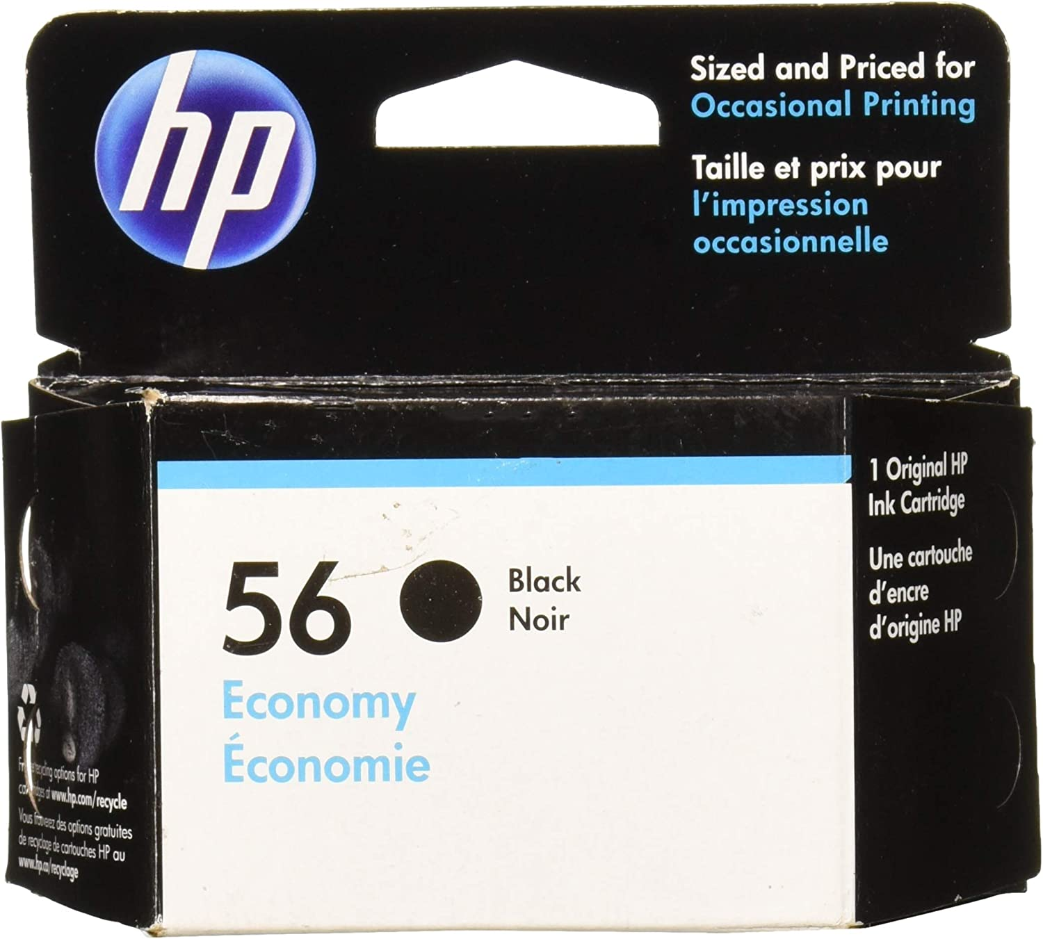 HP 56 | Ink Cartridge | Black | Economy Size | D8J31AN | DISCONTINUED BY MANUFACTURER