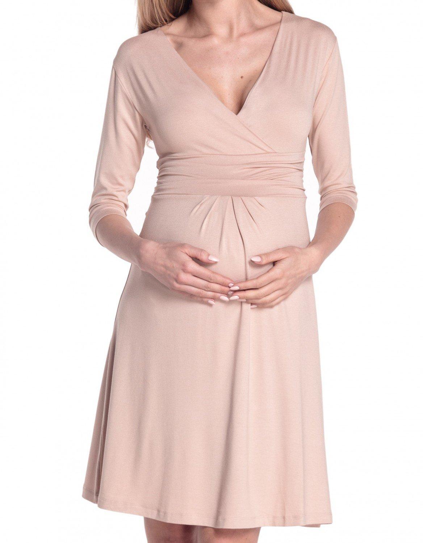 Happy Mama Donna Abito Prémaman per L'allattamento Vestito Estivo Elegante 282p