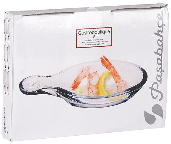 Pasabahce Gastroboutique - Juego de 12 Mini Tapas de Cristal/Cuchara de Cristal para Aperitivos: Amazon.es: Hogar