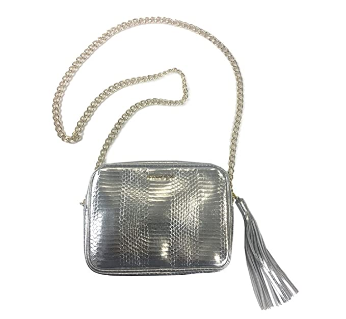 4895d7eadb67 Image Unavailable. Image not available for. Color  Victoria s Secret  Official Crossbody Bag Of The Fashion Show Silver With Chain