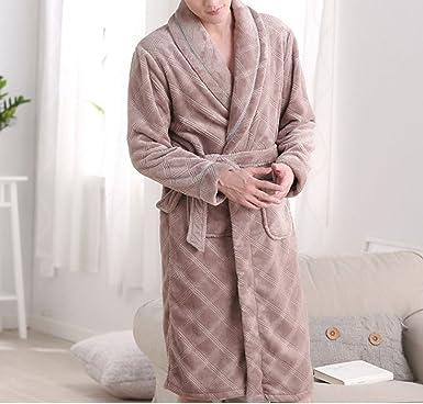 low priced 93db8 c2394 Herbst Und Winter Dickere Nachthemd Pyjamas Männer ...
