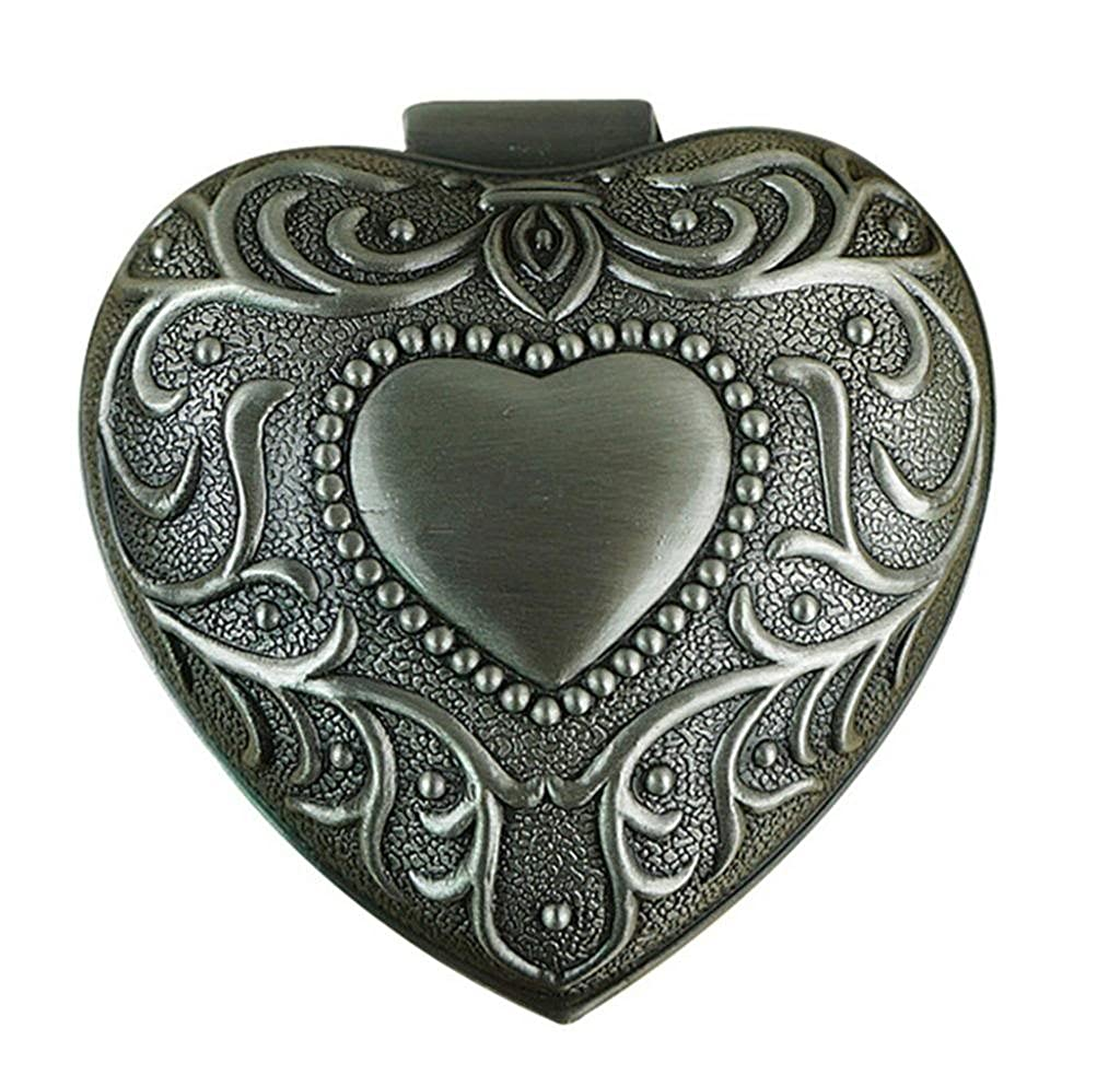 Infinite U Luxury Heart Shape Women Trinket Jewellery Box-2 Options, Colour Antique Sliver Infinite Jewellery IJ-652-L-Box