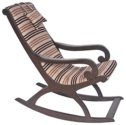 Remarkable Craftatoz Classic Rocking Chair Walnut Wooden Royal Rocking Chair Wood Rocking Chair Living Room Home Garden Lounge Size Length 41 Inches Width Ibusinesslaw Wood Chair Design Ideas Ibusinesslaworg