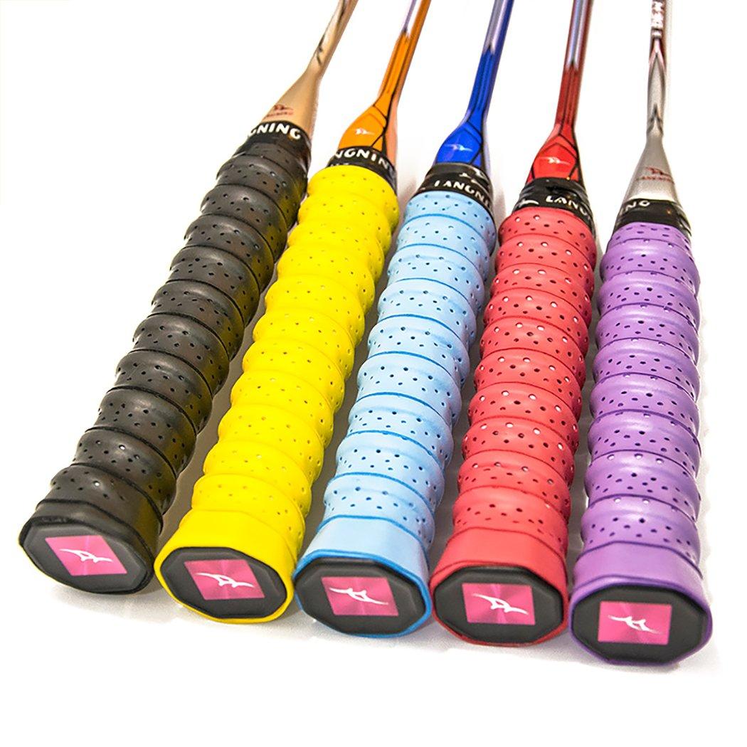 Langning 5/10/15Stück Tennis Badminton Schläger Overgrips für rutschfest und absorbiert Feuchtigkeit in der Hand. 5 Stück