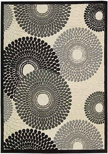 Nourison GIL04 Graphic Illusions Area Rug 3 6 x 5 6 Grey Rectangle