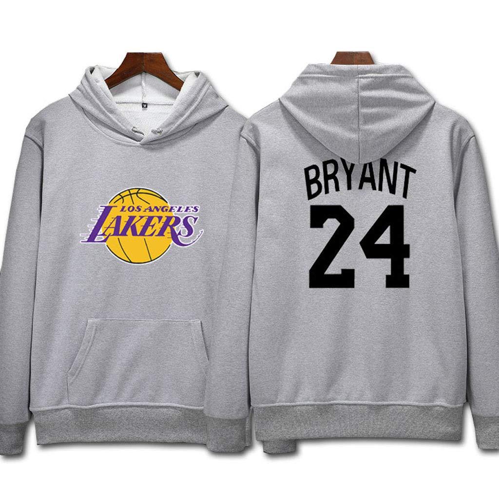 L.A Lakers Kobe Bryant #24 Felpa con cappuccio Giovent/ù Uomo Name /& Number Magliette Sportive da Basket Moda Felpa