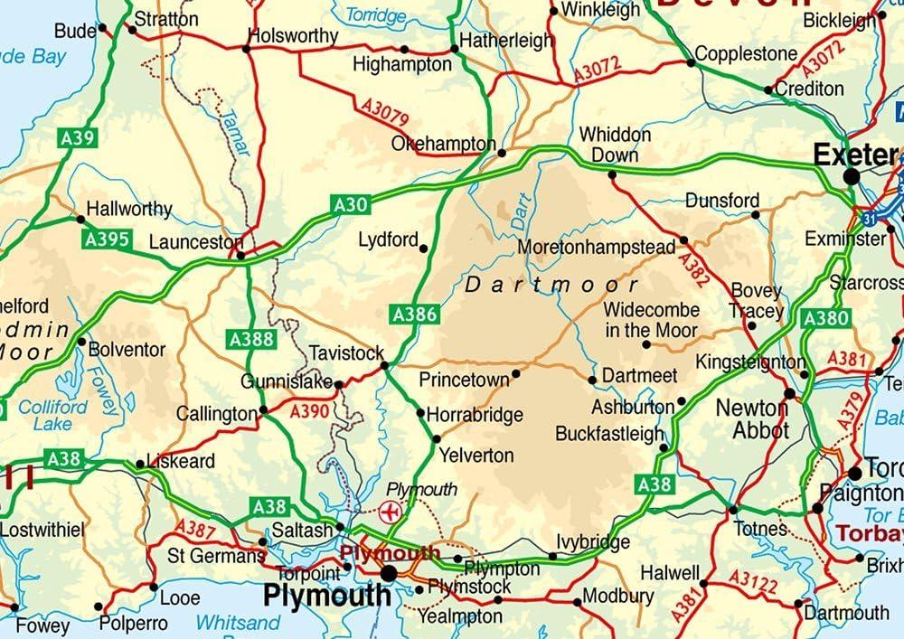 Mapa del sur de Inglaterra, incluye ciudades, pueblos y carreteras ...