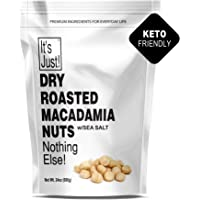 It's Just - Macadamia Nuts from Hawaii, 1.5lbs, Dry Roasted, No Oil, Sea Salted, Made in USA (24oz)