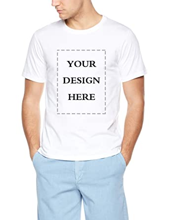 153ed011aa78 Amazon.com: Custom Image T Shirt DIY White T Shirts for Men Add Your Text  Personalized Image: Clothing