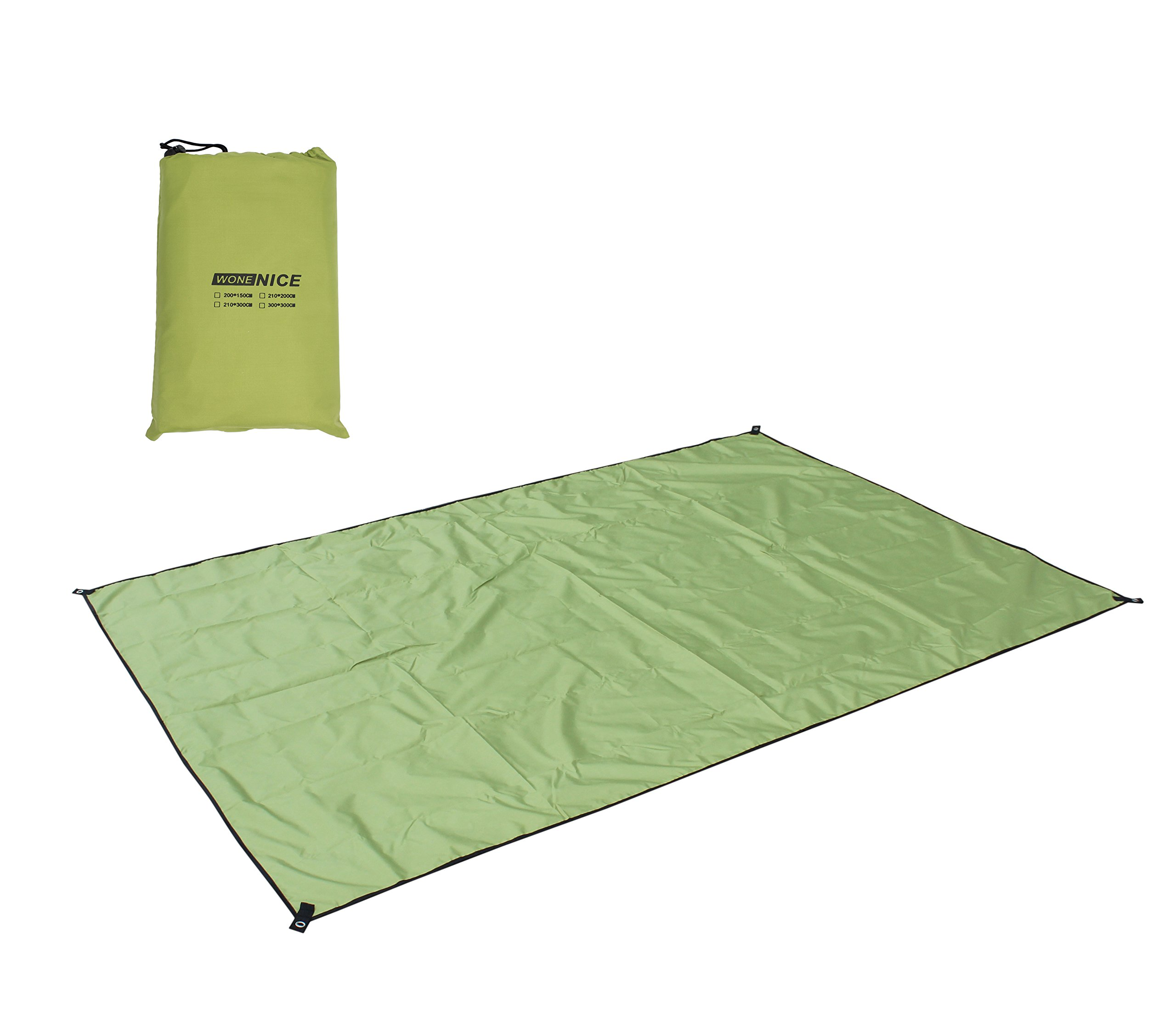 WoneNice Waterproof Camping Tent Footprint, Tent Mat, Tent Tarp, Sand Free Beach Mat Blanket and Ground Mat for Picnic, Camping, Hiking118 x 118 inches by WoneNice