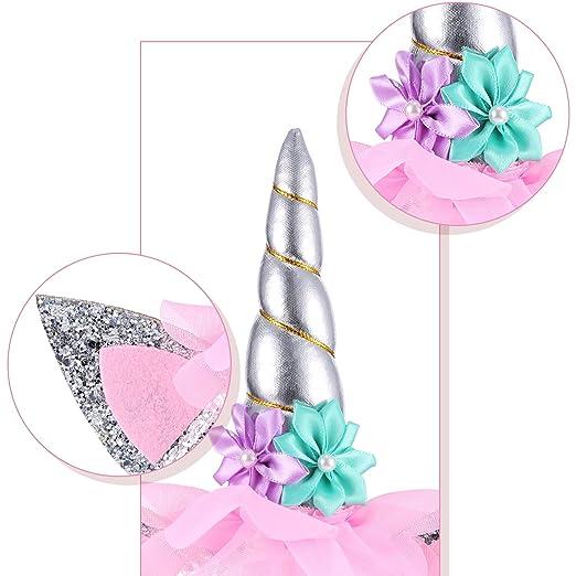 Diadema de Unicornio con Banda de Birthday Girl para Materiales de Fiesta de Cumpleaños de Niñas (Estilo 2): Amazon.es: Juguetes y juegos