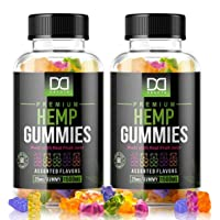 (120 Count) Sugar Free Hemp Gummies Extract (1500mg | 25mg/Serv)Hemp Oil Gummy Bears Vitamins Edibles Candy Supplements for Pain, Sleep Support, Anxiety Relief, Inflammation - Zero THC CBD Cannabidiol