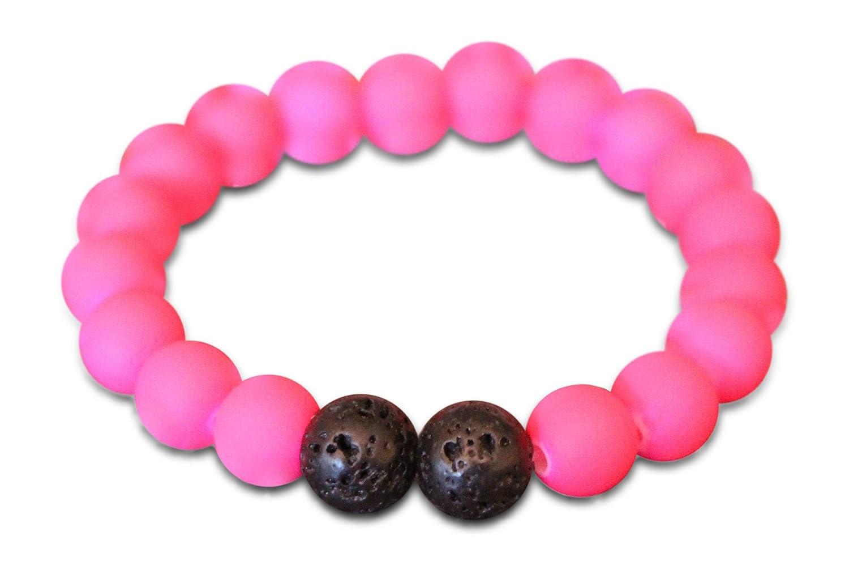 Mana Vibes Kids Beaded Bracelet For Kids, Rubber Coated and Lava Rock Beads Essential Oil Kids Bracelet KBR910