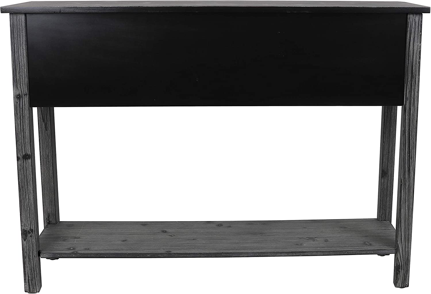 D/écor Therapy Rowan 3-Drawer Weathered Chalkboard Console Table 44.5x13.5x44.5,