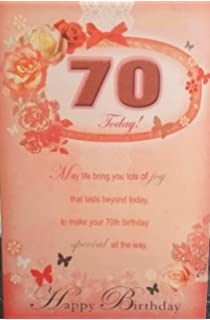 Xpress Special Age 70th Birthday Sentimental Verse 70 Today New Gift Greeting Card