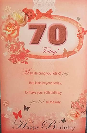 Amazon Xpress Yourself Special Age 70th Birthday Sentimental