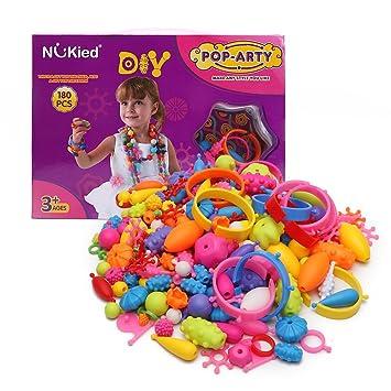 Wishtime 女の子のおもちゃシリーズ ビーズ アクセサリー ハンドメイドセット 180ピース