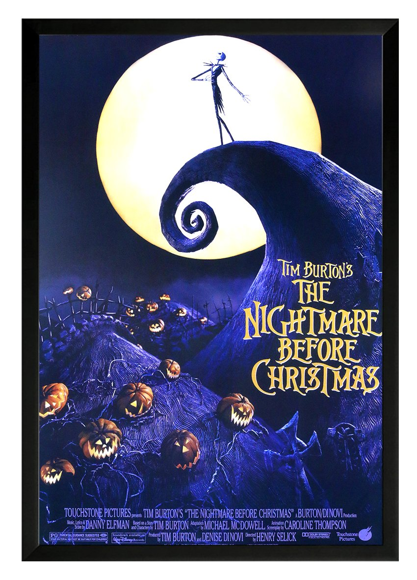 Amazon.com: Tim Burton\'s-The Nightmare Before Christmas Framed Movie ...
