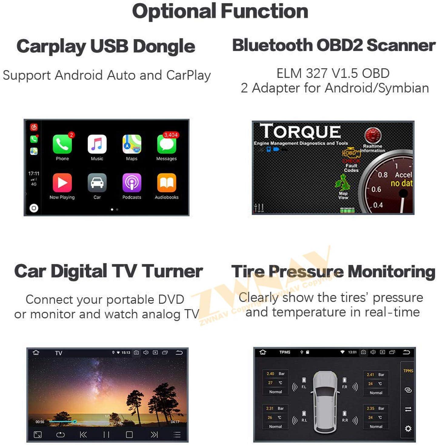 Paysage ZWNAV 10,1 Android 9.0 Voiture St/ér/éo GPS Navigation GPS pour Renault Clio 2013-2018 Bluetooth Europe 49 SWC /écran Tactile IPS Lecteur DVD WiFi