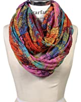 Scarfand's Mixed Color Oil Painting Infinity Scarf Wraps