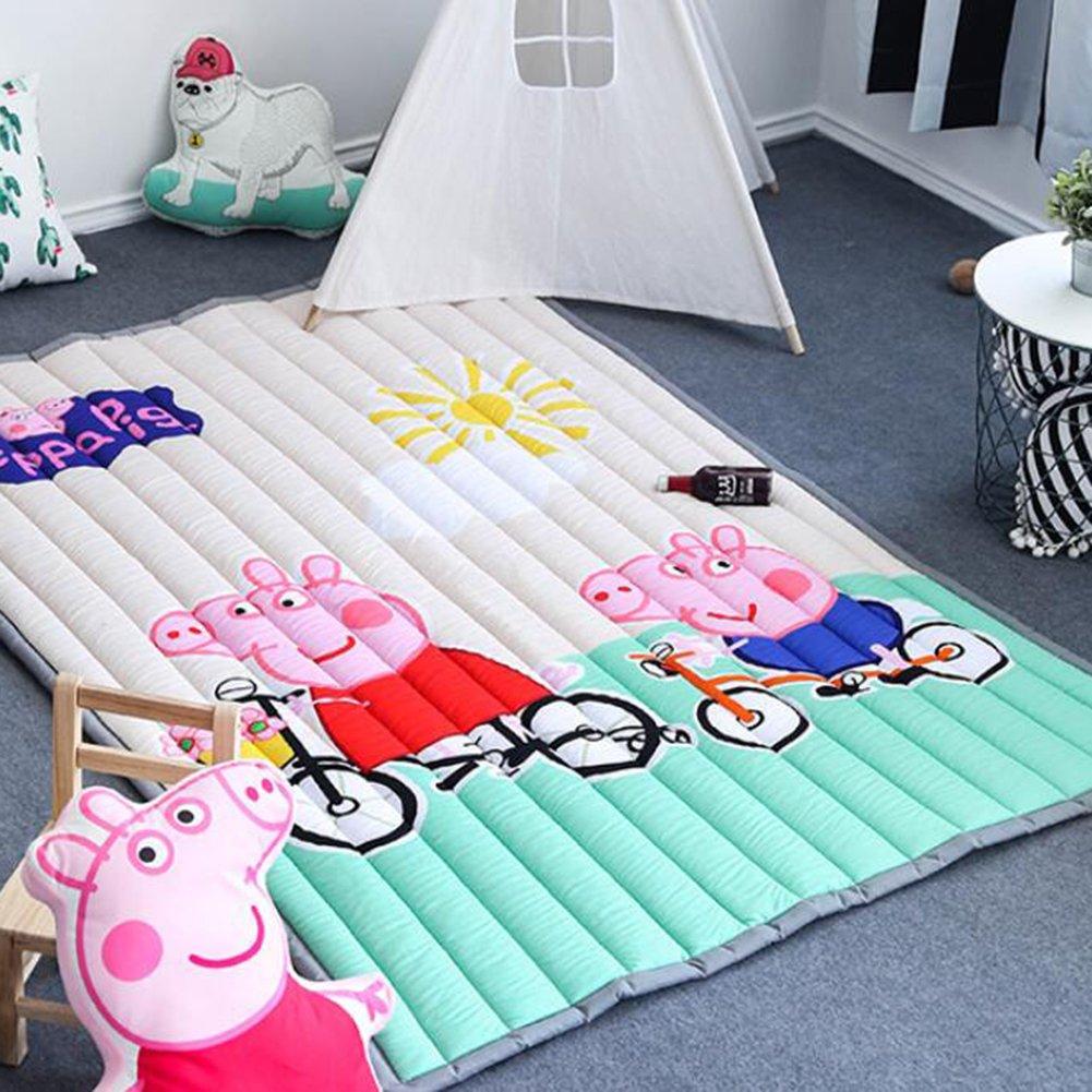 Baby Crawling Rugs Anti-slip - Rectangle Thick Home Decor Children Cartoon Animals Rugs 59 X 79 Inch Peppa Pig