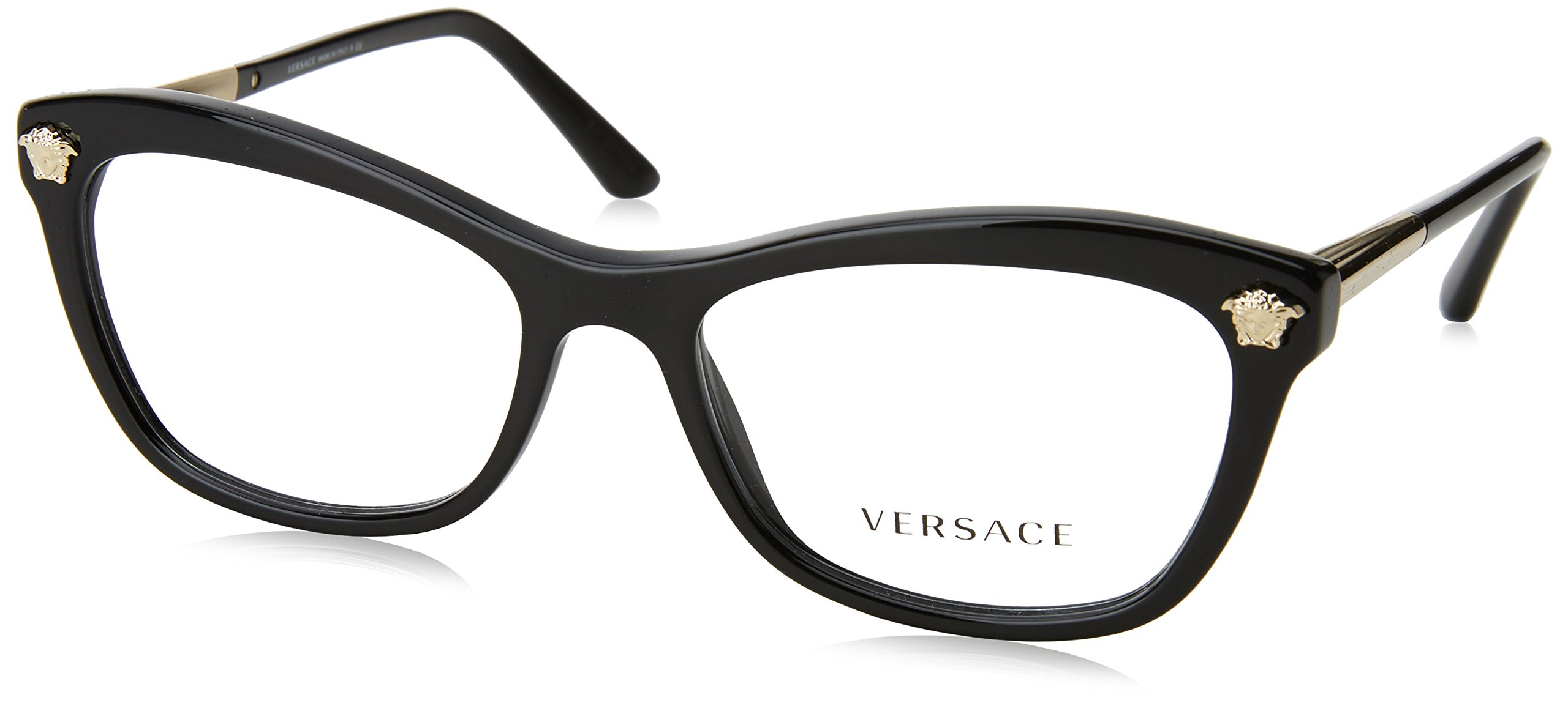 Versace VE3224 Eyeglass Frames GB1-54 - Black VE3224-GB1-54 by Versace