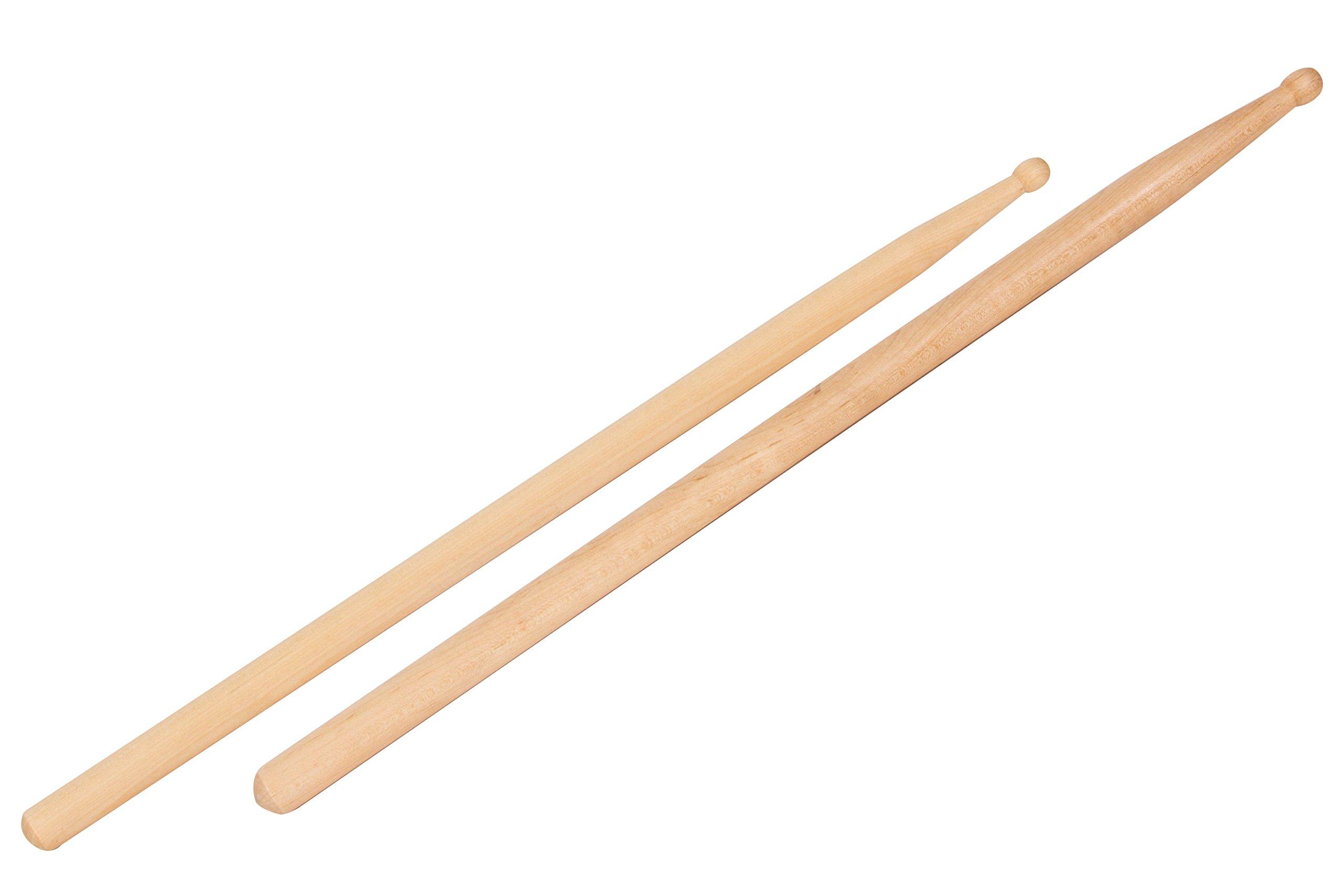 Brick of 12 pairs Maple Wood Drum Sticks 5B (L16in) by Westco