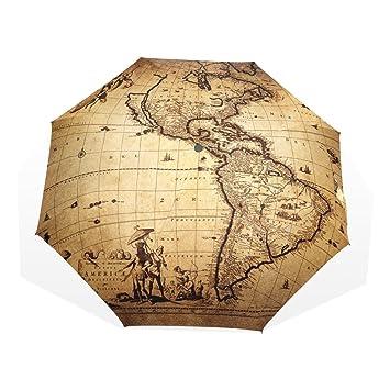 Amazon hmwr umbrella windproof compact ancient greek culture hmwr umbrella windproof compact ancient greek culture war world map fashion folding travel rain umbrella gumiabroncs Gallery