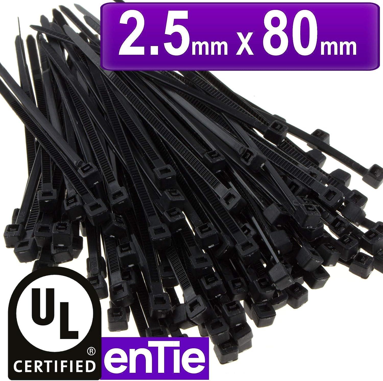 Attache C/âble Colliers Serre-Cable 200mm intervisio Collier de Serrage 200 mm x 2,5 mm Noir Serre C/âbles Rilsan Nylon Lot de 100 Pi/èces