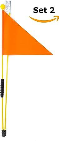 Cycley | 2 banderínes de bicicleta | banderas de seguridad para ...